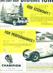 Click here to enlarge image and see more about item Z6133: 1954 Champion AD BILL VUKOVICH INDY 500