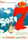 Seagram's 7 crown blended whiskey ad 1954