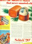 """Click here to enlarge image and see more about item Z6170: Schick """"20"""" electric shaver ad 1951"""