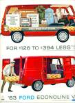 1963 Ford Econoline RED Van AD