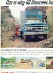 Click here to enlarge image and see more about item Z6216: 1963 Chevrolet CHEVY 2pg TrucksAD