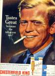Click here to enlarge image and see more about item Z6219: 1963 CHESTERFIELD CIGARETTES AD