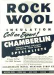 Rock wool insulation - Chamberlin ad 1943