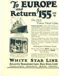 Click here to enlarge image and see more about item Z6301: White Star -Atlantic transport line ad 1925