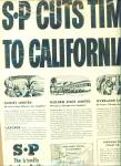Click here to enlarge image and see more about item Z6304: Southern Pacific cuts time to California 1946
