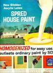 Click here to enlarge image and see more about item Z6322: Spred house paint - Glidden co. ad 1964