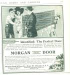 1912 Morgan HARDWOOD DOOR AD Vintage Artwork