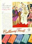 1942 Callaway TOWEL AD GILBERT BUNDY ART