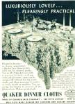 Click here to enlarge image and see more about item Z6356: Quaker dinner cloths ad 1942