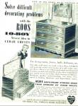 Click here to enlarge image and see more about item Z6364: Roos Lo-boy cedar chests ad 1942
