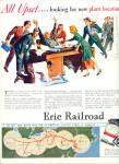 Click here to enlarge image and see more about item Z6397: 1946 Erie Railroad ad TUPPER ARTWORK