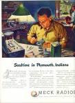 Meck Radios ad 1946