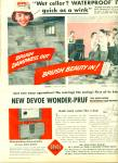 Devoe paint = Waterproof basement ad 1956