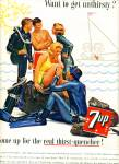 1963 Seven Up 7UP AD SKIN DIVING