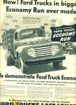 Click here to enlarge image and see more about item Z6501: Ford Trucks economy run ad 1950
