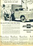 Click here to enlarge image and see more about item Z6515: 1950 Chevrolet CHEVY TRUCK AD FARMER ART