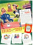 1940 Heinz Soup AD Vintage POLICEMAN ART