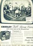 Click here to enlarge image and see more about item Z6618:  Crosley family theatre television ad 195