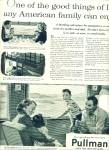 1955 Pullman Train AD Family Traveling ART
