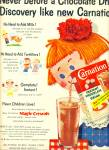 Click here to enlarge image and see more about item Z6634: Carnation Instant chocolate flavored drink ad