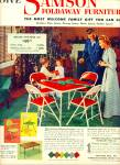 Click here to enlarge image and see more about item Z6660: Samson foldaway furniture ad 1952