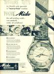 Mido multifort superautomatic watch ad 1952