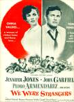 Movie AD PROMO WE WERE STRANGERS  - John Garfield