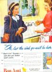 Click here to enlarge image and see more about item Z6750: 1947 BONI AMI Cleaser AD Vintage Women Kitche
