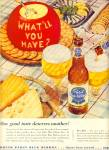 Click here to enlarge image and see more about item Z6761: Pabst blue ribbon beer ad