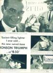 Click here to enlarge image and see more about item Z6783: Ronson world's greatest lighter ad 1953