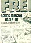 Click here to enlarge image and see more about item Z6788: Schick injector razor kit ad 1953