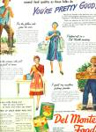 Del Monte foods , cans or glass ad 1944