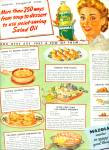 Click here to enlarge image and see more about item Z6797: Mazola salad oil ad 1944