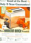 Click here to enlarge image and see more about item Z6826: Hamilton Beach toaster ad 1956
