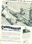 Choremaster outdoor power equipment 1957