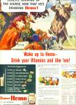Click here to enlarge image and see more about item Z6917: Borden's Hemo vitamin drink ad 1944