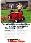 Click here to enlarge image and see more about item Z6989: Wheel Horse lawn tractor ad 1979