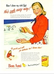 Click here to enlarge image and see more about item Z7016: 1947 Bon Ami Cleansing Powder AD