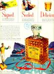 1951 Old Taylor Whiskey AD SIGNED SEALED DEL