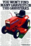 Click here to enlarge image and see more about item Z7064: Gravely lawn tractor ad 1979