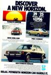 Click here to enlarge image and see more about item Z7065: Plymouth Horizon ad  1978