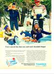 1973 Tampax tampons AD MODELS