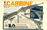 Click here to enlarge image and see more about item Z7167: M 22 Carbine ad  - LA distributors  1967