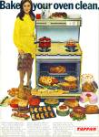 Click here to enlarge image and see more about item Z7200: 1969 TAPPAN Oven Stoven AD BAKE IT CLEAN