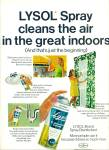 Lysol spray disinfectant ad 1969
