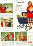 Click here to enlarge image and see more about item Z7296: 1944 Singer Sewing Center BUSY Young MOTHER