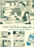 Click to view larger image of 1950 Scot Towels ad - soft tuff  Kitchen Lady (Image1)