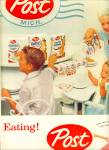 Click to view larger image of 1956 POST Cereal AD 2 pg. Dad Kissing Mom (Image2)