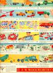 Click to view larger image of 1956 Woolworth's toyland AD TOYS DOLLS TRUCKS (Image2)