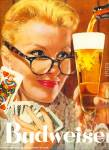 Click here to enlarge image and see more about item Z7380: Budweiser beer ad 1957 SERVING THE BEST